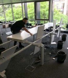 démontage bureau pour recyclage