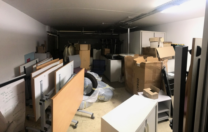 Stockage de bureaux recyclés